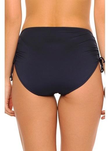 Reflections Mix Match Yandan Büzgülü Düz Yüksek Bel  Bikini Alt Lacivert